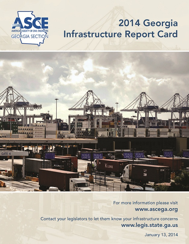Georgia infrastructure report car information made available by ASCE.