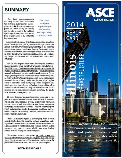 2014 report card for illinois' infrastructure