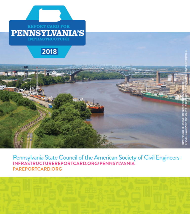 pennsylvania infrastructure asce s 2017 infrastructure report card