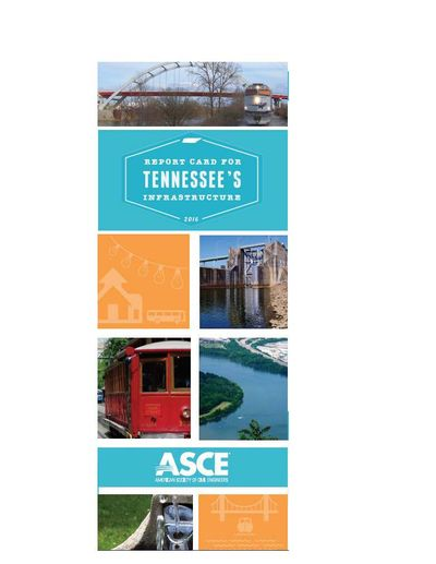 report card for Tennessee's infrastructure 2016
