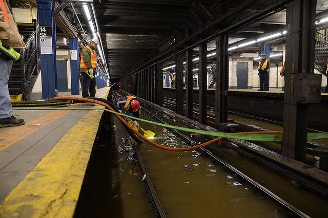 broken subway tracks