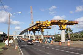 honolulu rail project under construction