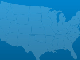 blue map of USA